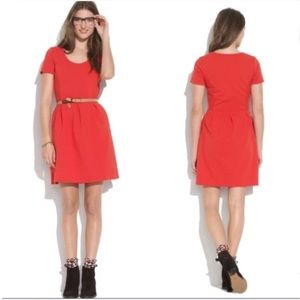 Madewell Bright Red Bistro Dress Size 12